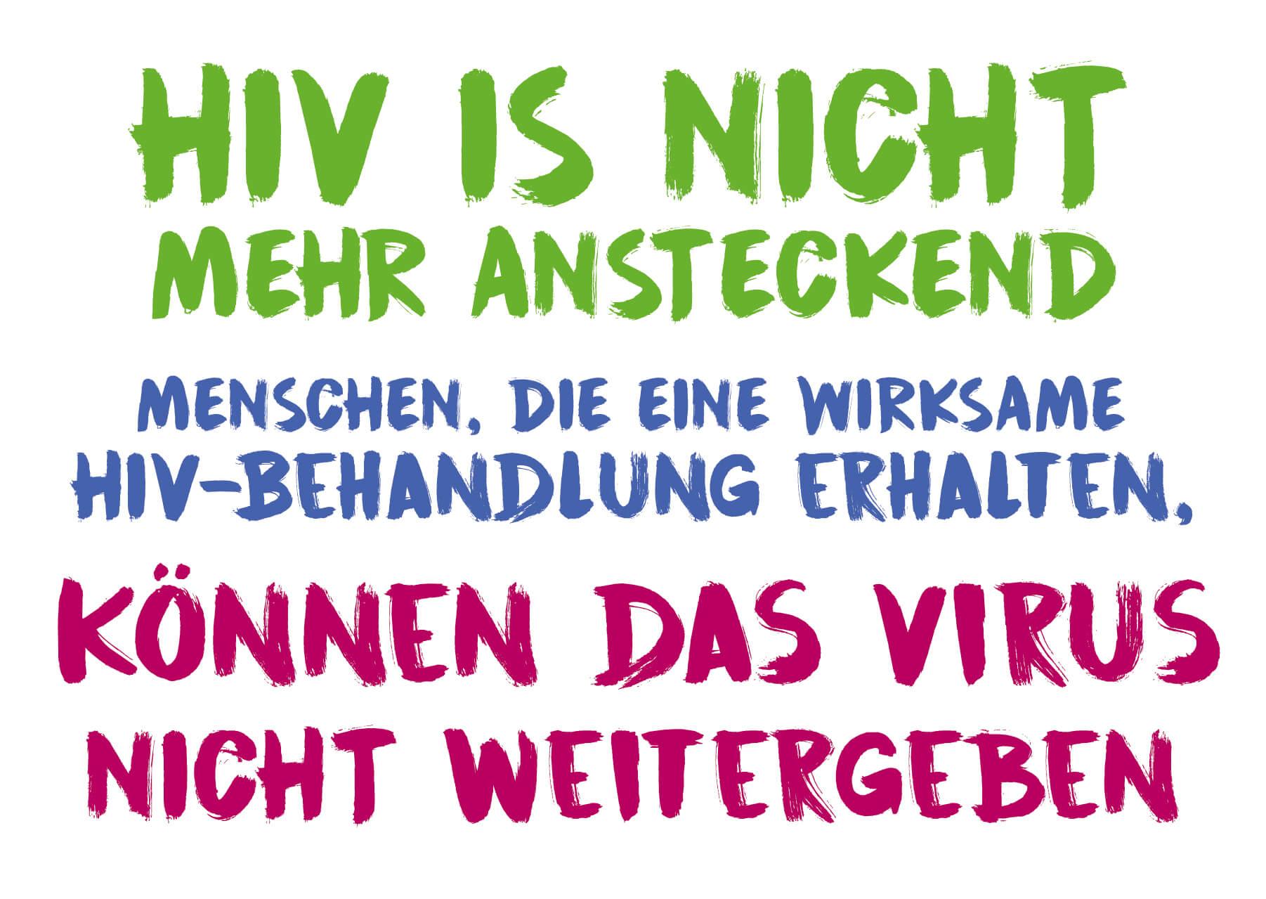 HIV is nicht mehr ansteckend. Menschen, die eine wirksame HIV-Behandlung erhalten. Können das virus nicht weitergeben