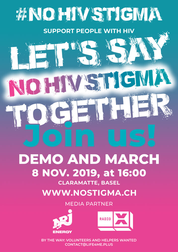 "Demo and march ""NOHIVSTIGMA"""