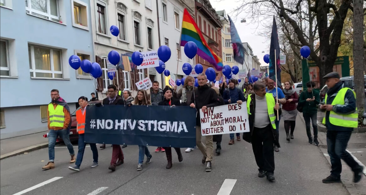 NoHIVstigma march.